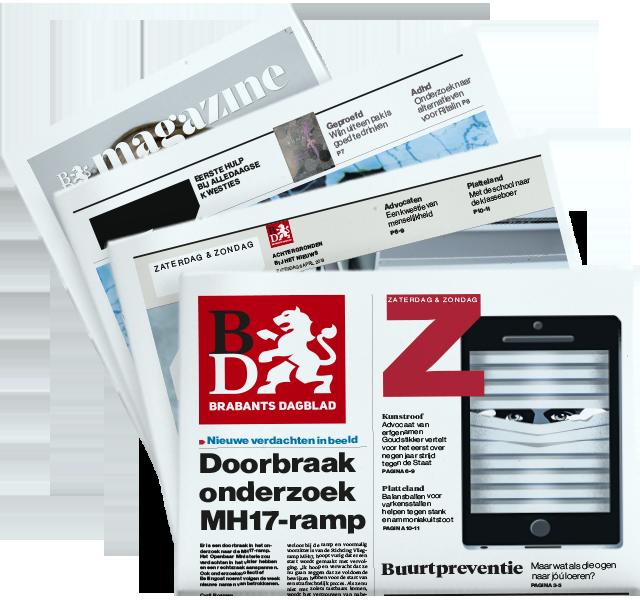 Brabants Dagblad op zaterdag met Z, ZO en BD Magazine