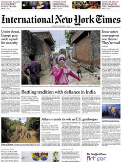 International New York Times aanbiedingen voor een abonnement of proefabonnement