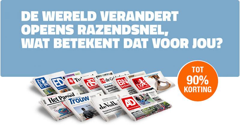 proefabonnement op de krant 4 weken voor 4 euro